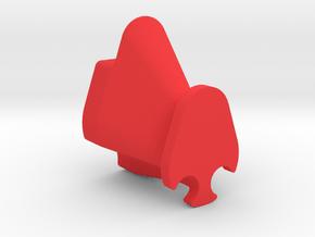 Glasses holder in Red Processed Versatile Plastic