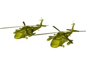 1/200 scale Sikorsky UH-60 Black Hawk x 2 in White Natural Versatile Plastic