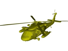 1/200 scale Sikorsky UH-60 Black Hawk x 1 in White Natural Versatile Plastic