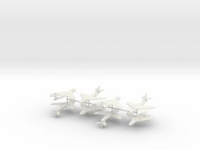 1/350 Hawker Hunter (x8) in White Natural Versatile Plastic