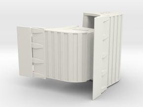 QC80 Tieflöffelset 3 mit Schneide / bucket set 3 w in White Natural Versatile Plastic: 1:50