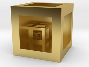 Scale Cube  in Polished Brass