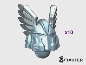 Angle Wings - Vanguard Helmets in Smooth Fine Detail Plastic: Medium