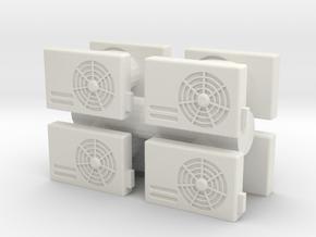Air Conditioning Unit (x8) 1/64 in White Natural Versatile Plastic