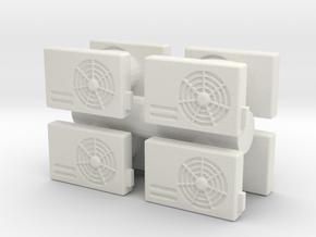 Air Conditioning Unit (x8) 1/35 in White Natural Versatile Plastic