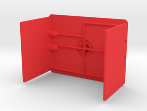 Axial fuel cell battery cover in Red Processed Versatile Plastic