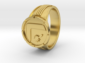 Supergirl Leagion Flight Ring size 9 3/8 19.31mm in Polished Brass