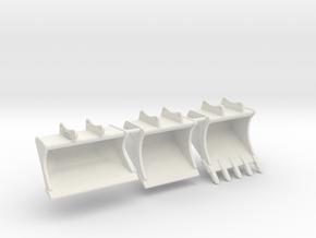 Rototilt Löffelset / bucket set in White Natural Versatile Plastic: 1:50