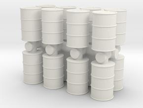 Oil Barrel (x16) 1/100 in White Natural Versatile Plastic