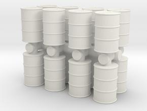 Oil Barrel (x16) 1/87 in White Natural Versatile Plastic