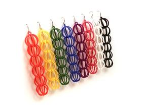 Sphere Earrings in White Processed Versatile Plastic