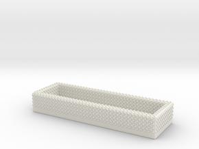 1/64 Diamond Plate Open Storage Box in White Natural Versatile Plastic