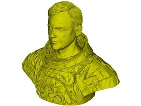 1/9 scale astronaut Neil Armstrong bust in Smooth Fine Detail Plastic