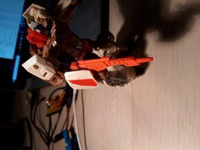 Chromedome Dual Laser in Red Processed Versatile Plastic