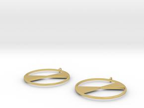 Lyra Earrings in Polished Brass