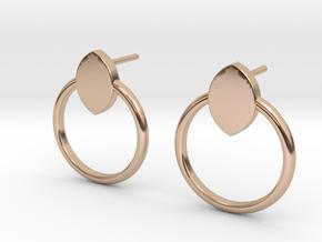 Mandorla Post Earrings in 14k Rose Gold Plated Brass