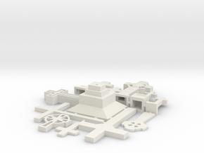 1/48 Cemetery set1 crosses kit in White Natural Versatile Plastic