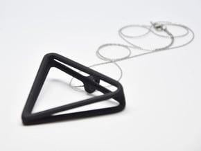 2Triangles Pendant in Black Natural Versatile Plastic: Large