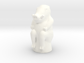 Warthog Game Token in White Processed Versatile Plastic