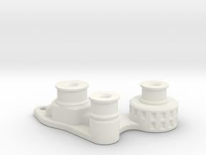 TF2 VFD Scale V8 Engine - Accessory Drive in White Natural Versatile Plastic