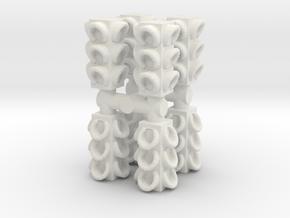 4 Way Traffic Light (x8) 1/100 in White Natural Versatile Plastic