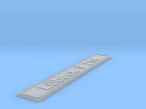 Nameplate Lübeck F 214 in Smoothest Fine Detail Plastic