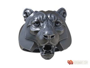Tiger Face Ring jewelry in Natural Brass: 10 / 61.5