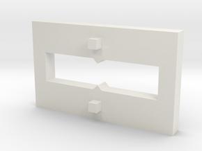 Custom Test Base Wall in White Natural Versatile Plastic