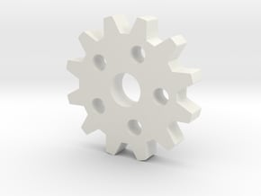 Larger Gear in White Natural Versatile Plastic