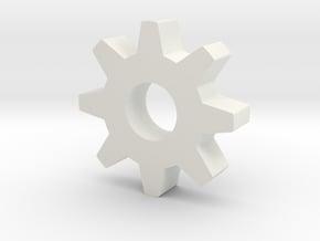 Smaller gear in White Natural Versatile Plastic
