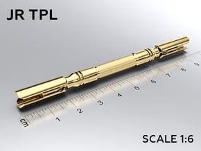 JR TPL keychain in Natural Brass: Medium