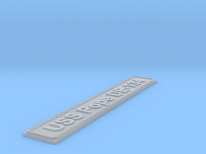 Nameplate USS Pope DE-134 in Smoothest Fine Detail Plastic