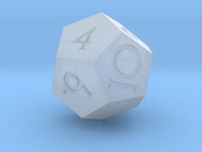 Sharp Edged d12 - Polyhedral RPG Dice in Smooth Fine Detail Plastic