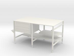 1:24 Welding Table in White Natural Versatile Plastic