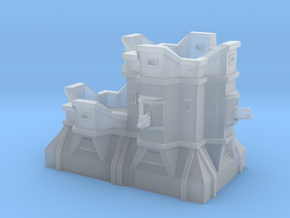 Double Bastion  in Smooth Fine Detail Plastic: 6mm