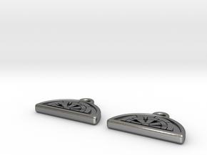 Ikoma Mon Earring - 2x in Polished Silver