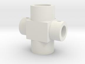 Spitfire control column universal centre in White Natural Versatile Plastic