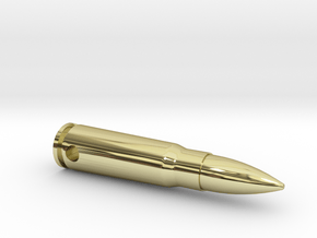 Bullet Design Neckless in 18k Gold Plated Brass