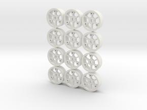 "4WD - ""No glue !"" - Ø20 / 0 / x6 in White Natural Versatile Plastic"