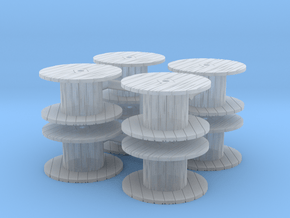 Cable Spool (x8) 1/200 in Smooth Fine Detail Plastic