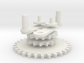 Xfactory arms and gears in White Natural Versatile Plastic