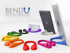 BendU - Universal Mobile Stand in White Natural Versatile Plastic