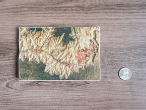 Grand Canyon, Arizona, USA, 1:250000 in Full Color Sandstone