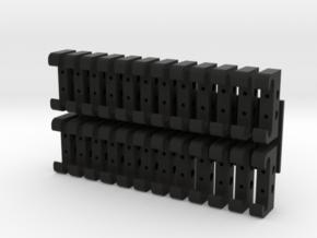 1:8 Eaglemoss Delorean Brackets   in Black Natural Versatile Plastic
