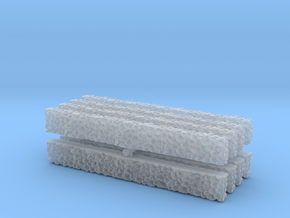 Stone Wall (x8) 1/220 in Smooth Fine Detail Plastic