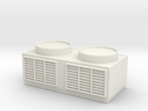 Rooftop Air Conditioning Unit 1/48 in White Natural Versatile Plastic
