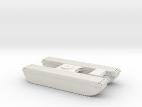 1/50th Wilco Excavator Pontoon Marsh Buggy in White Natural Versatile Plastic