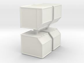 AKE Air Container (closed) (x4) 1/144 in White Natural Versatile Plastic