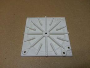 Tesla Flat Spiral Coil Base B - 140mm in White Natural Versatile Plastic