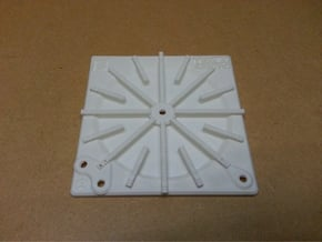 Tesla Flat Spiral Coil Base A - 140mm in White Natural Versatile Plastic